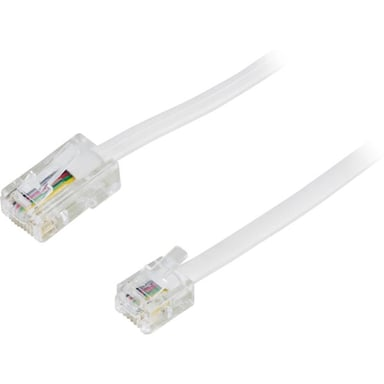 Deltaco Phone cable 5m RJ-45 Uros RJ-11 Uros