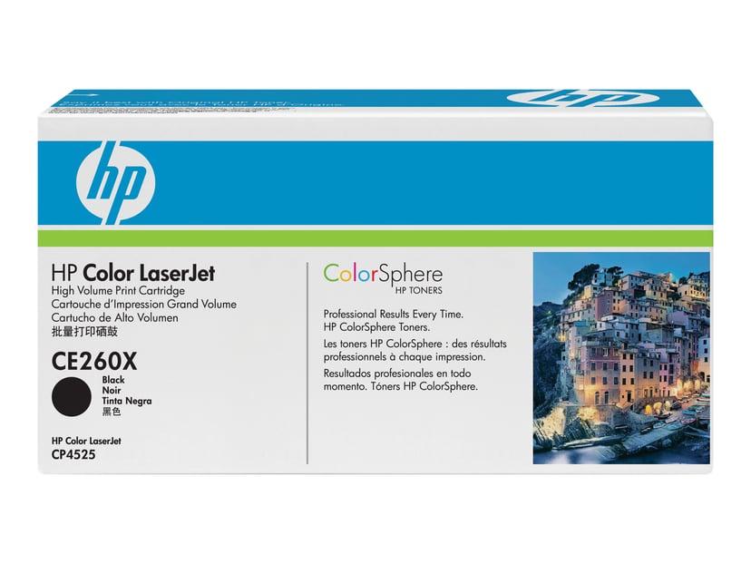 HP Toner Svart 649X 17K - CE260X