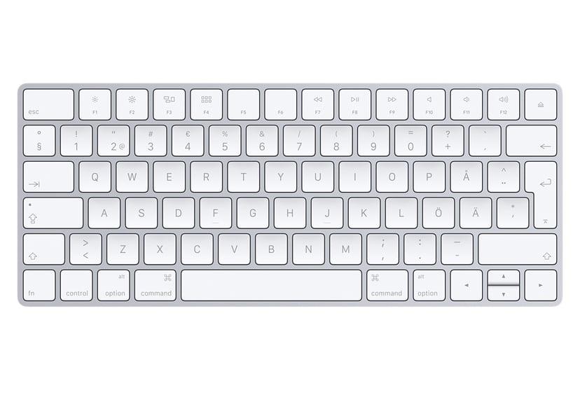 Apple Magic Keyboard Trådlös Tangentbord Silver; Vit