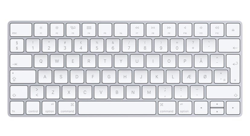 Apple Magic Keyboard Trådløs Tastatur Dansk Hvid, Sølv