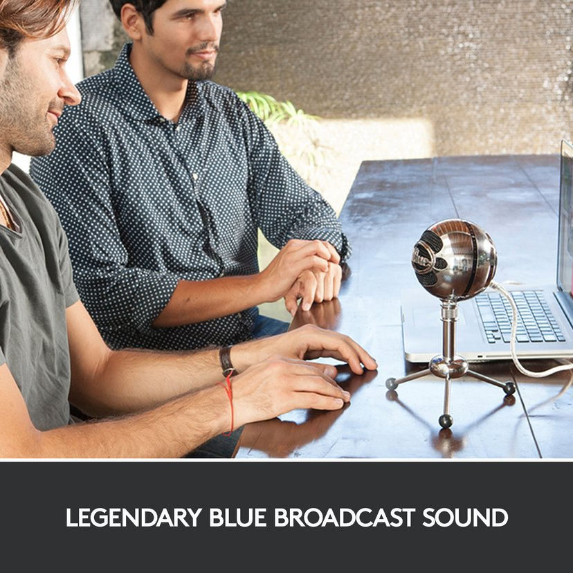 Blue Microphones Snowball Silver, Svart