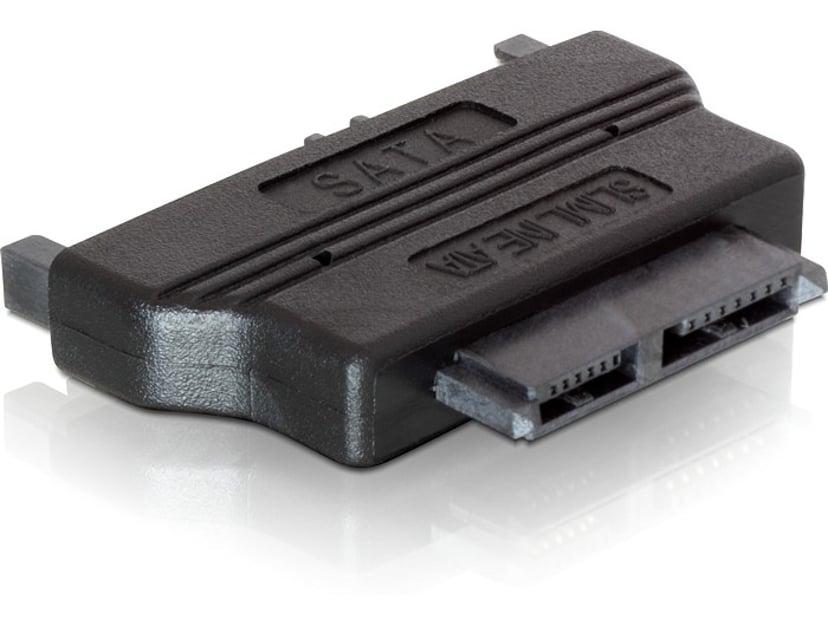 Delock Adapter SATA 22pin male > Slim SATA female 13pin 13-pins Slimline seriell ATA Hunn 22-pins seriell ATA Hann