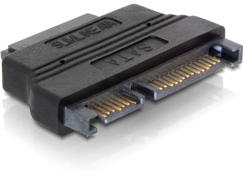 Delock Adapter SATA 22pin male > Slim SATA female 13pin 13-stifts smal seriell ATA Hona 22-stifts seriell ATA Hane