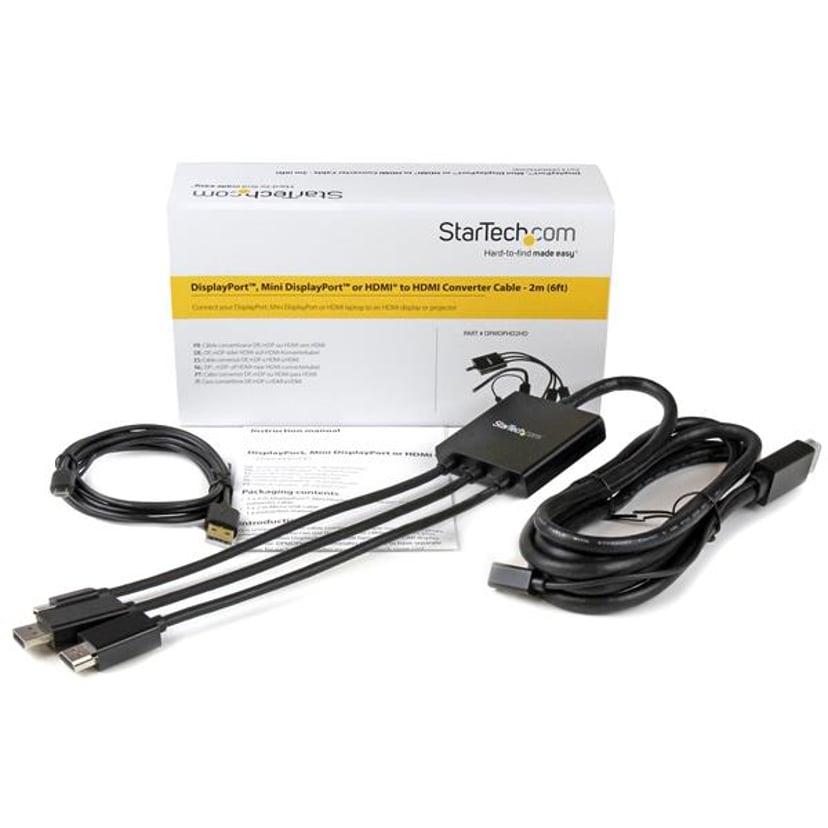 Startech Adapter DisplayPort, DisplayPort Mini, HDMI Hane 5-stifts mikro-USB typ B (endast ström), HDMI