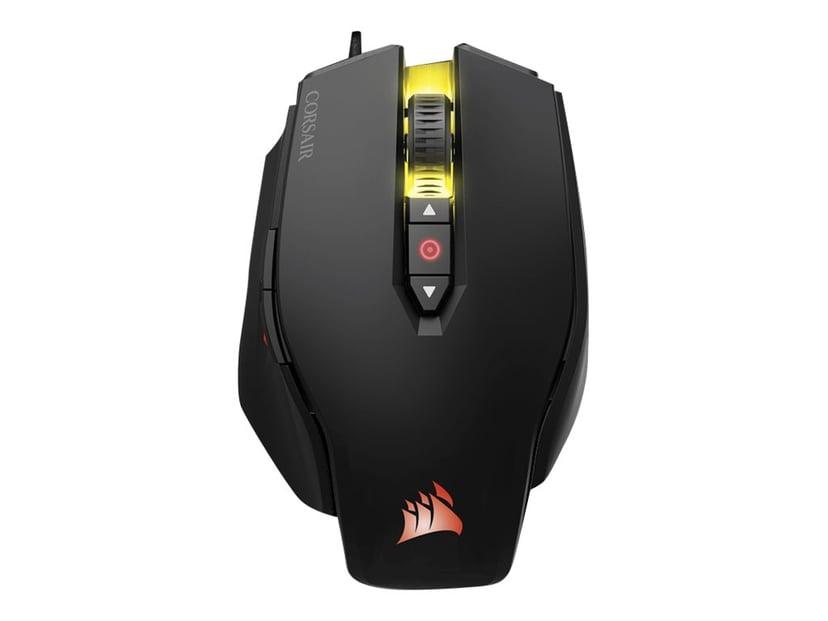 Corsair Gaming M65 PRO RGB FPS 12,000dpi Muis Met bekabeling Zwart