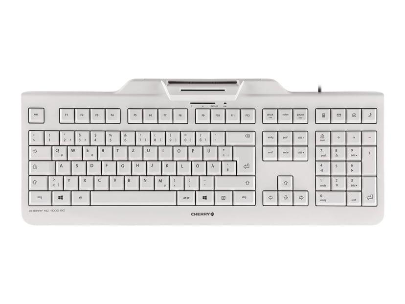 Cherry KC 1000 Smartcard Kablet Tastatur Pan Nordic Grå