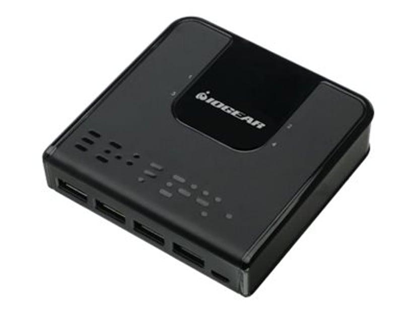 Iogear GUS434 USB USB-oheislaitteiden yhteiskäytön kytkin