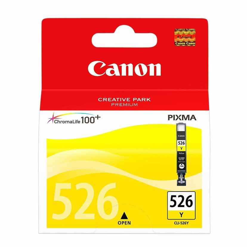Canon Bläck Gul CLI-526Y - MG5150