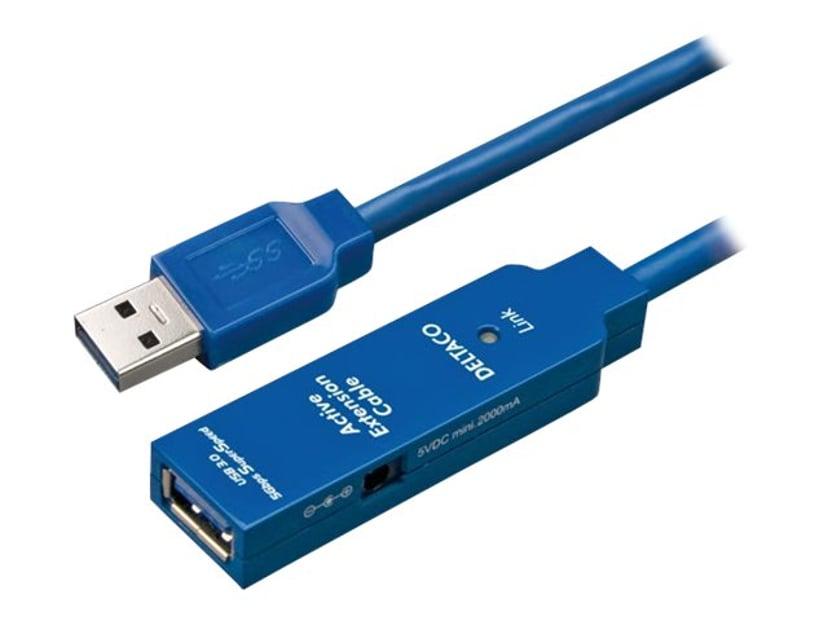 Deltaco USB3-1001 3m 9 pin USB Type A Naaras 9 pin USB Type A Uros