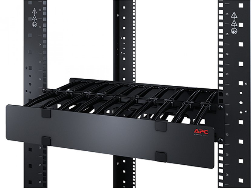 APC Horizontal Cable Manager Single-Sided with Cover