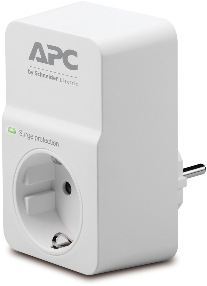 APC SurgeArrest Essential 16A Ekstern 1st CEE 7/7 strøm Hvit