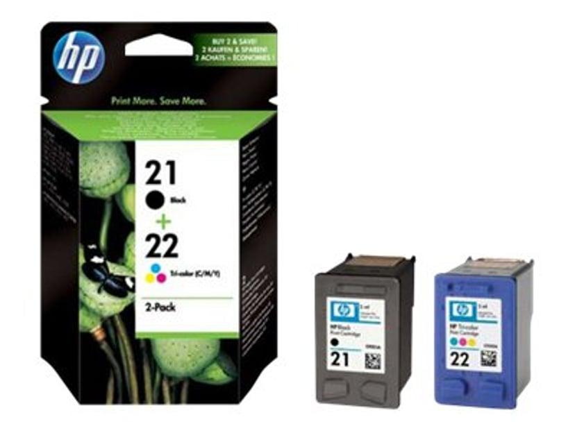 HP Bläck Combo Pack No.21/22 (Black/Color)