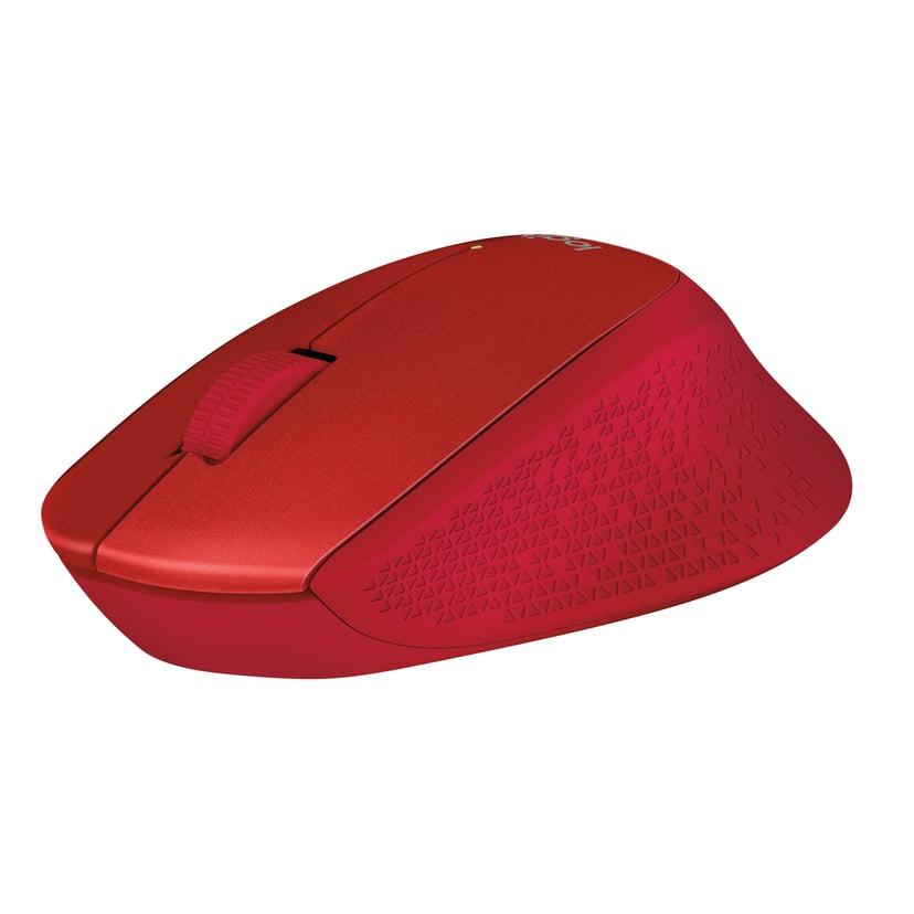 Logitech M330 Silent Plus Wireless 1,000dpi Mus Trådlös Röd