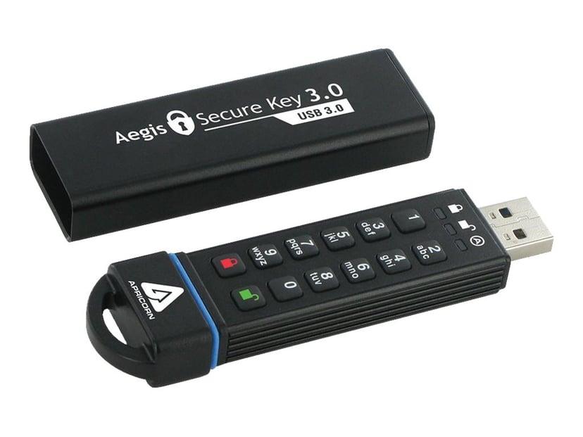 Apricorn Aegis Secure Key 3.0 16GB USB 3.0 256-bit AES-XTS; 256-bit SHA; FIPS 140-2 Level 3