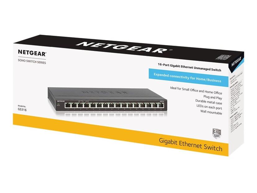 Netgear SOHO Gigabit Ethernet Switch GS316