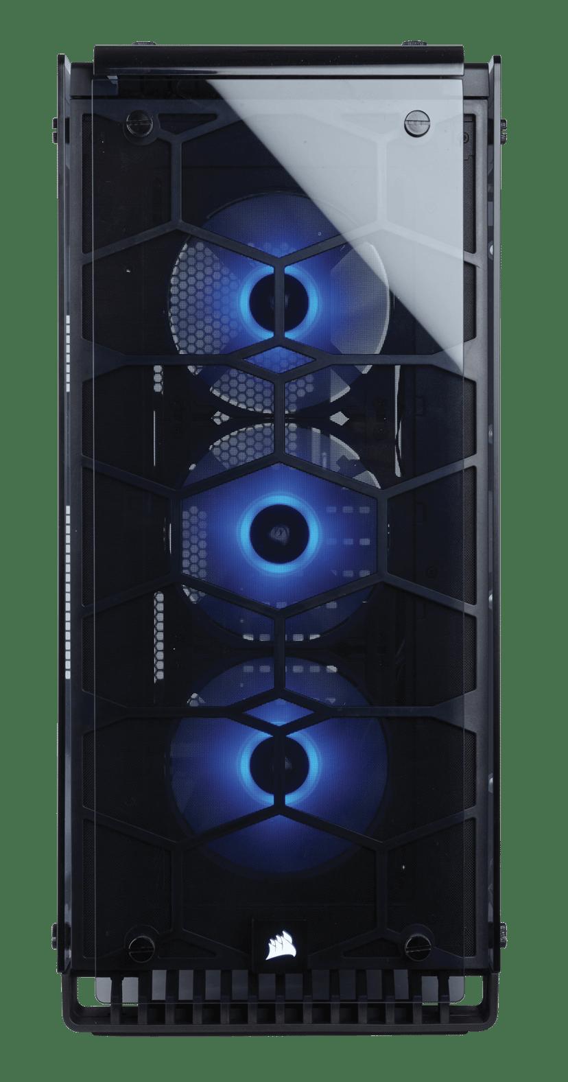 Corsair Crystal Serie 570X RGB Svart, Transparent