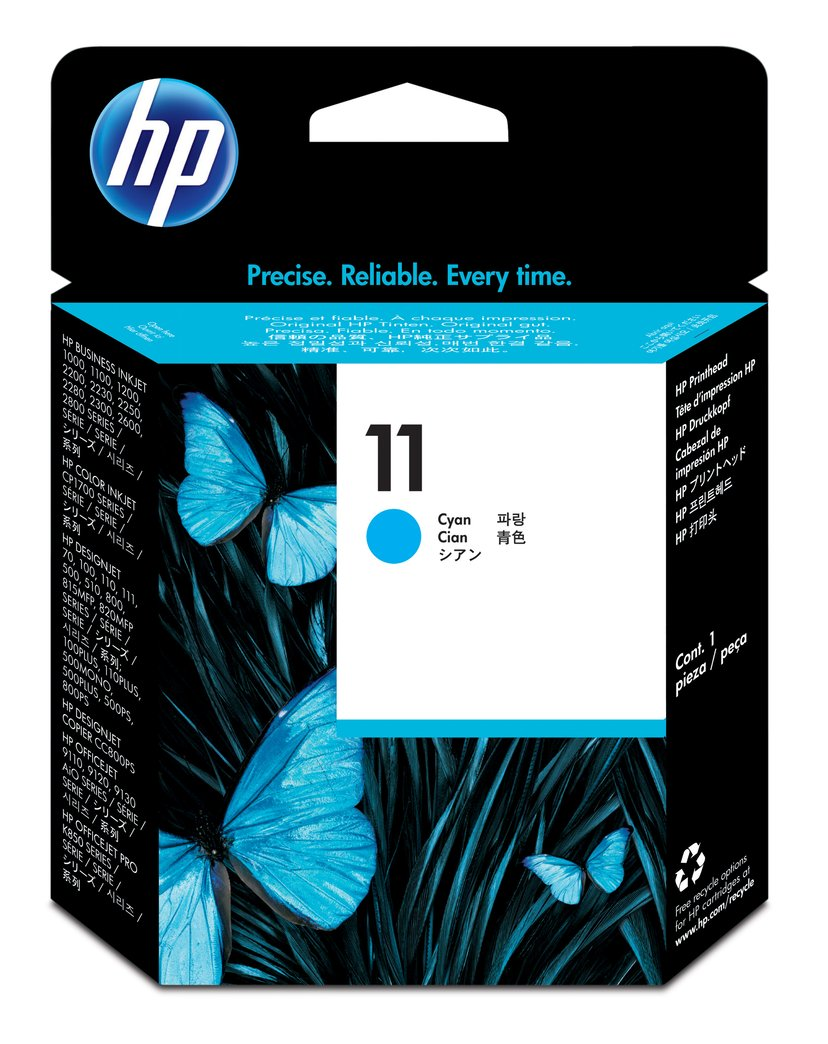 HP Skrivarhuvud Cyan No.11