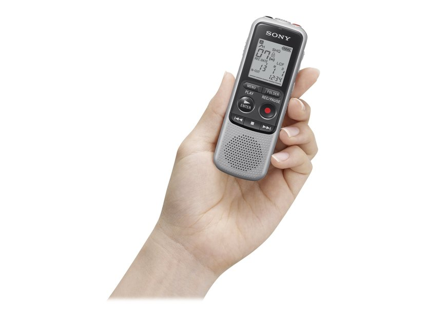 Sony Diktafon ICD-BX140 Silver (4GB)