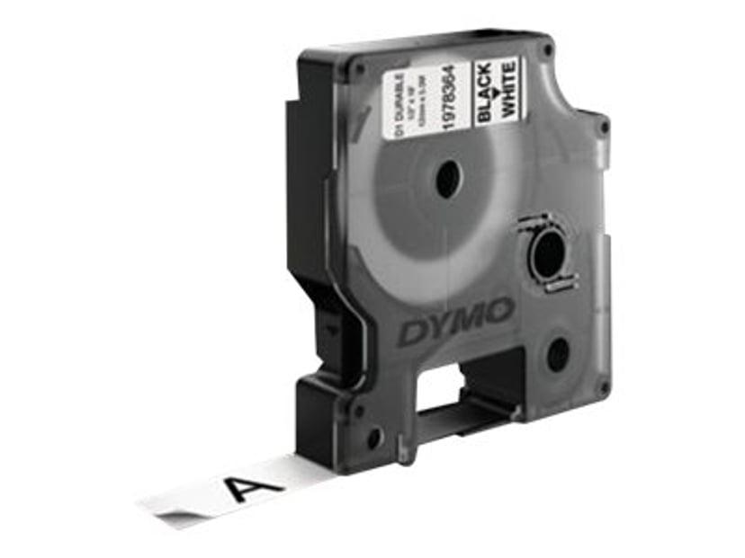 Dymo Tape D1 12mm Black/White Durable