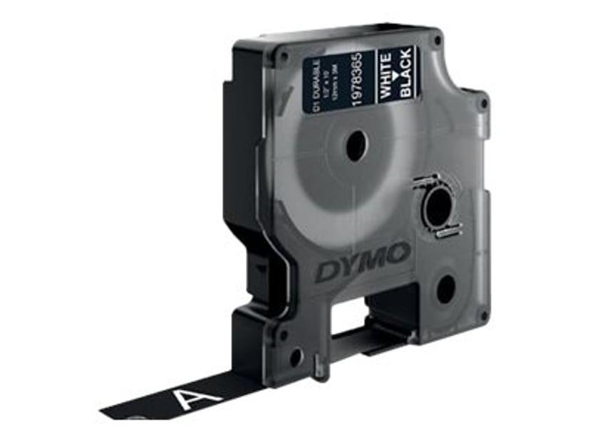Dymo Tape D1 12mm Vit/Svart Durable
