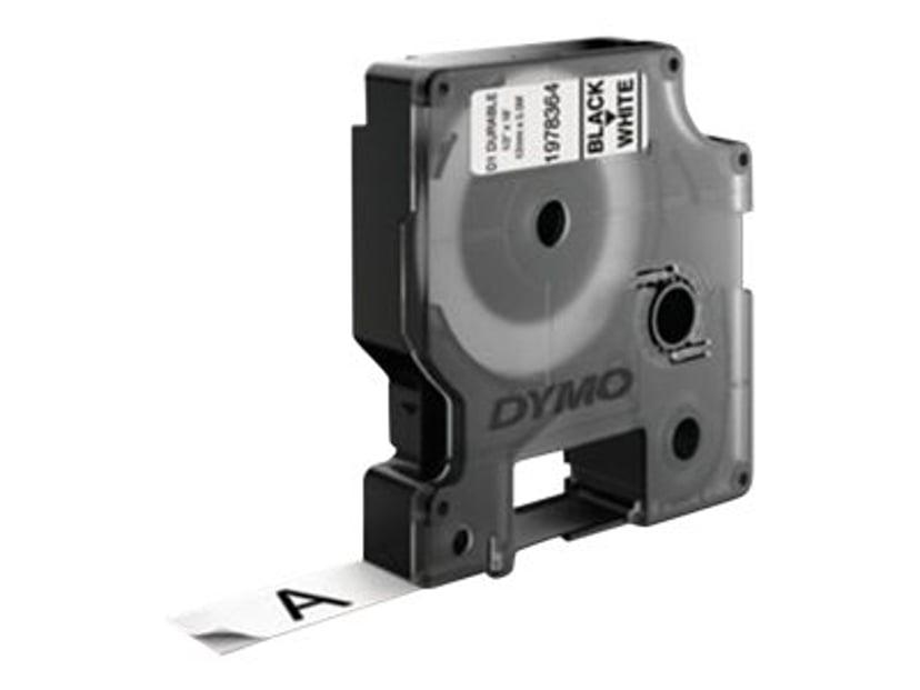 Dymo Tape D1 12mm Svart/Vit Durable