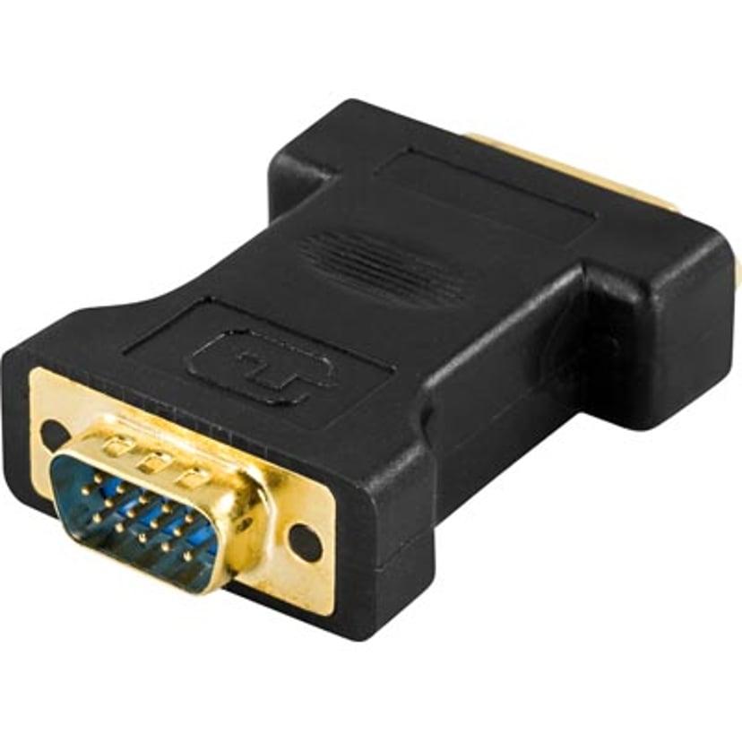Deltaco Adapter VGA Hane DVI-I Hona