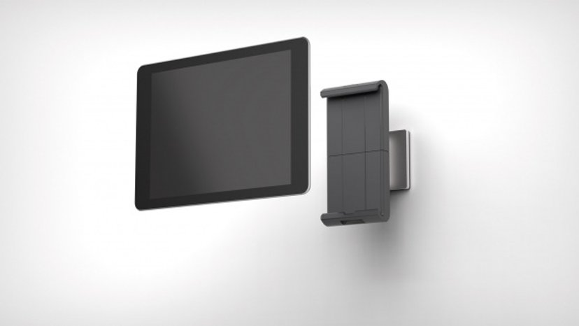 Durable Tablet Wall Holder Silver