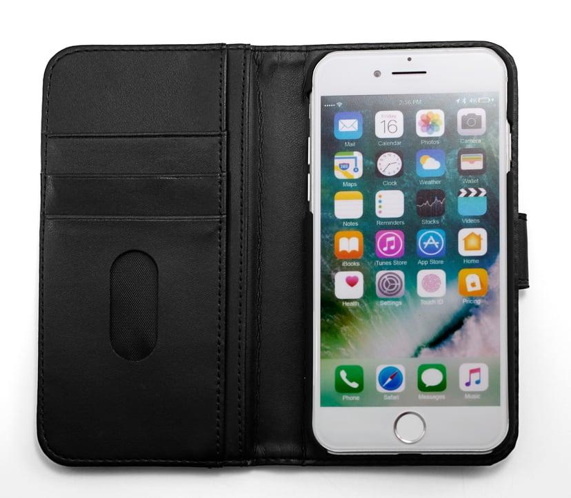 Cirafon Genuine Leather Wallet Svart iPhone 6/6s, iPhone 7, iPhone 8, iPhone SE (2020)