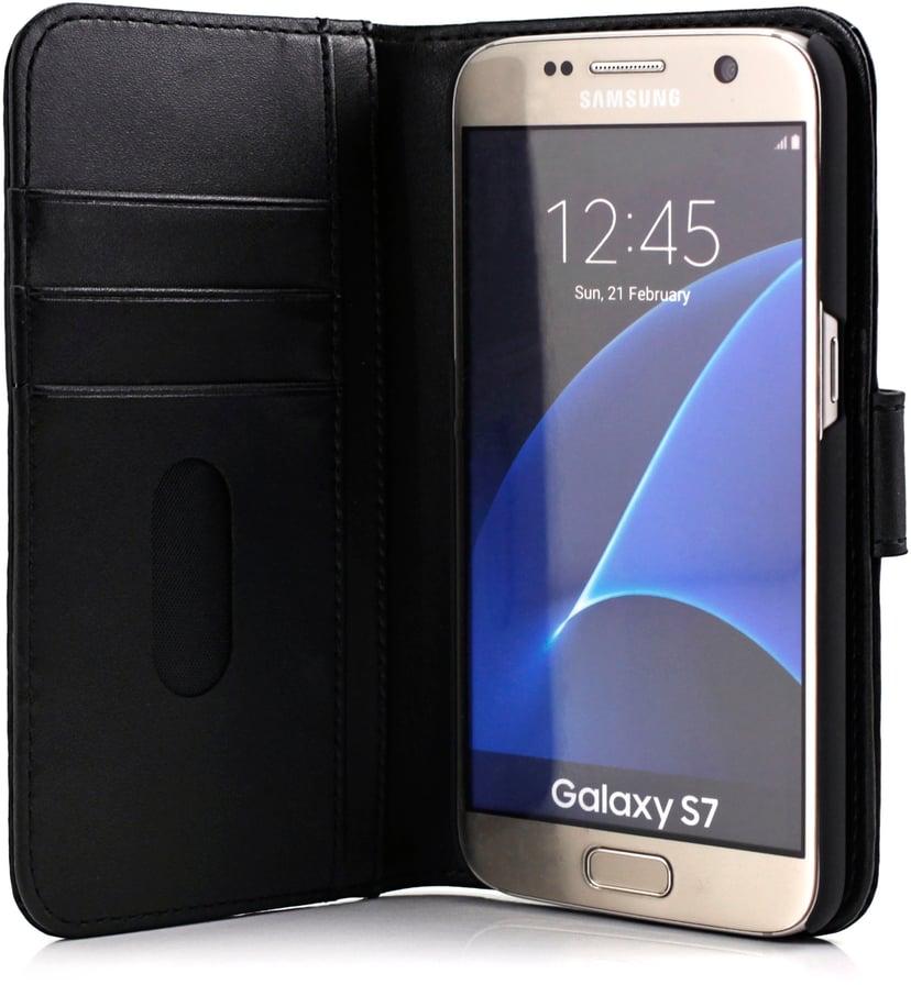 Cirafon Genuine Leather Wallet Samsung Galaxy S7 Zwart leer