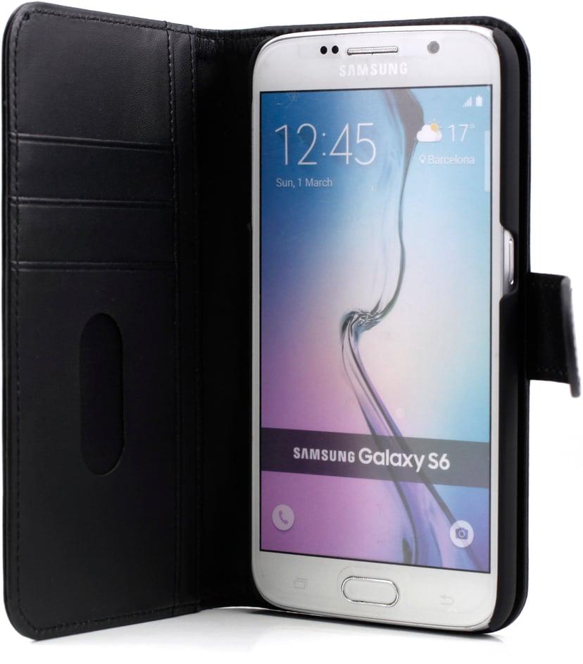 Cirafon Genuine Leather Wallet Samsung Galaxy S6 Svart läder