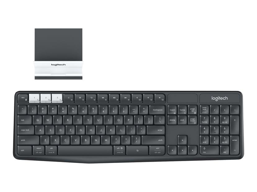 Logitech K375s Multi-Device Trådløs Tastatur Nordisk Grå, Hvid