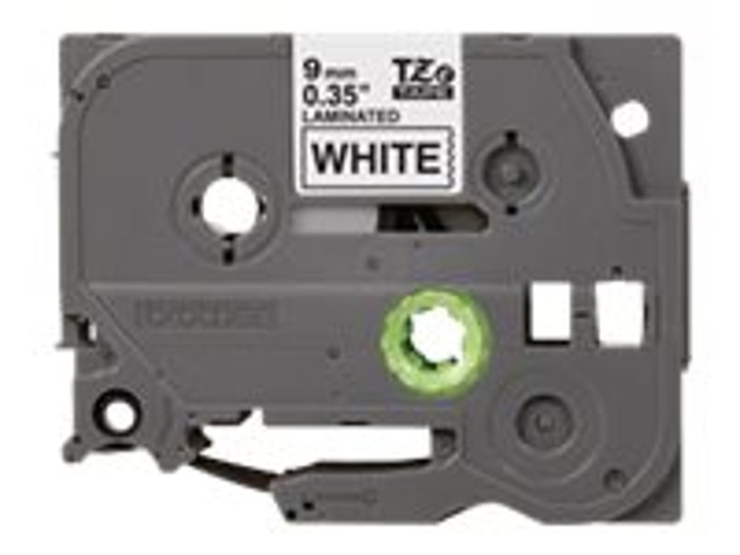 Brother Tape TZE-221 9mm Svart/Hvit