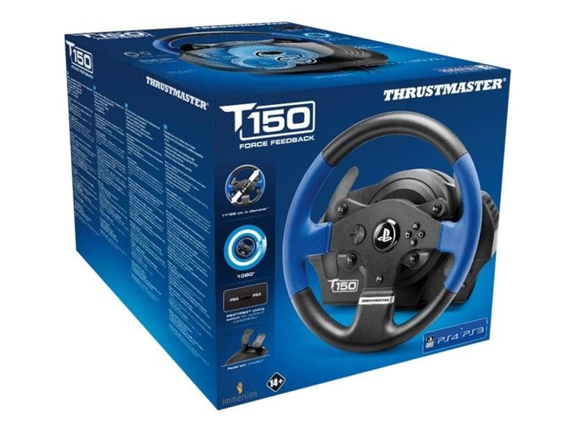 Thrustmaster T150 Force Feedback Blå, Svart