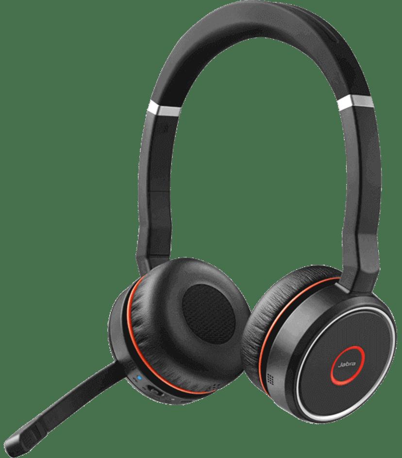 Jabra Evolve 75 Stereo MS Headset Svart