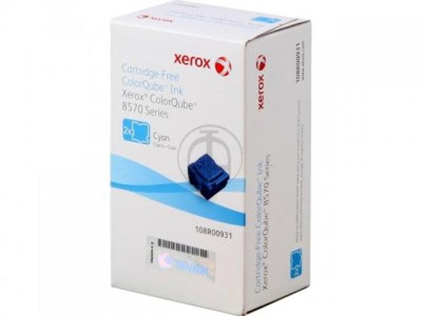 Xerox Blekk SOLID 2X Cyan 2,2K - CQ 8570