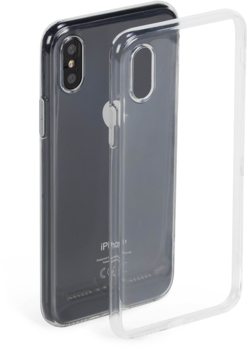Krusell Bovik Cover baksidesskydd för mobiltelefon iPhone X, iPhone Xs Transparent