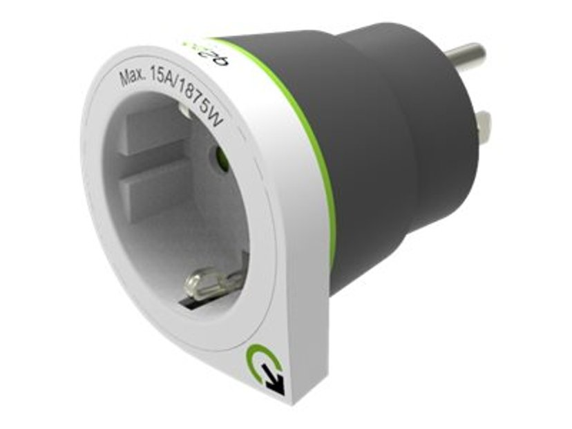 Q2power Reseadapter Jordad 10A EU - USA White