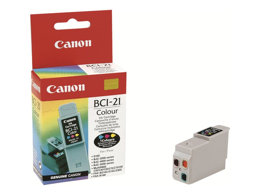 Canon Blæk Farve BCI-21C BJC 4000/4100/4200