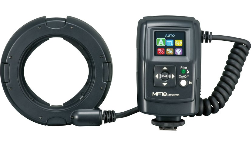 Nissin MF18 Macroblixt Nikon