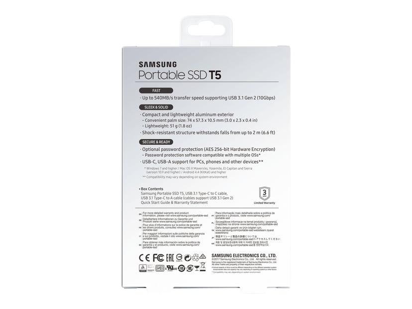 Samsung Portable SSD T5 2TB Svart