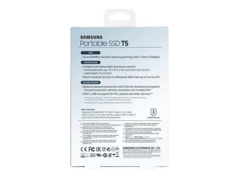 Samsung Portable SSD T5 0.5Tt Sininen