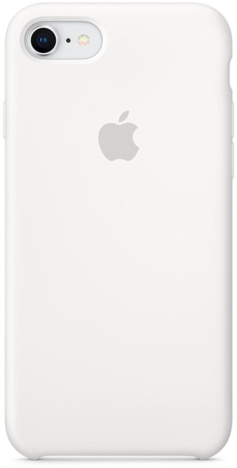 Apple Baksidesskydd för mobiltelefon Silikon iPhone 7; iPhone 8 Vit