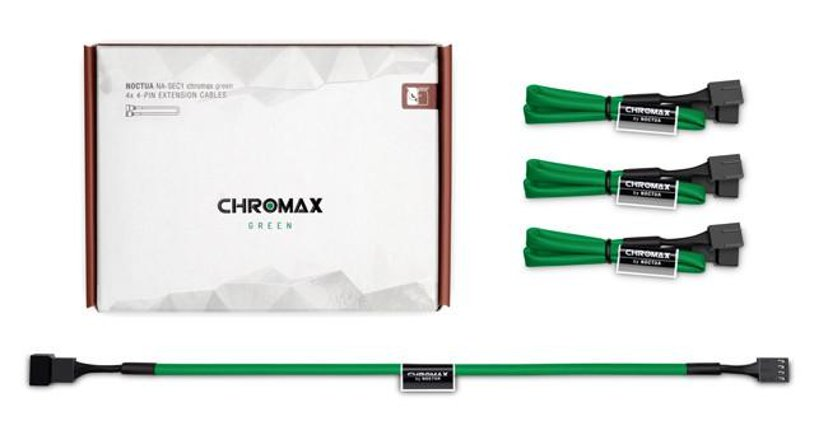 Noctua Na-sec1 Chromax Ext Cable 4X4-Pin 30cm Green