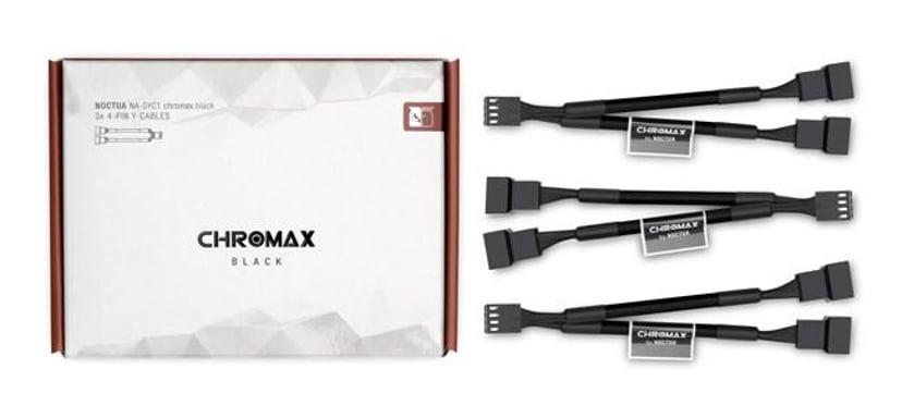 Noctua Na-Syc1 Chromax Y-Cable 4-Pin 11.5cm Black
