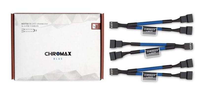 Noctua Na-Syc1 Chromax Y-Cable 4-Pin 11.5cm Blue