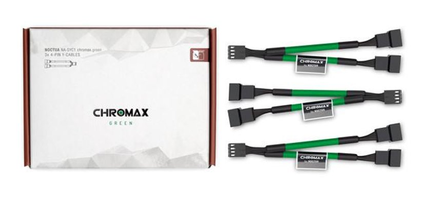 Noctua Na-Syc1 Chromax Y-Cable 4-Pin 11.5cm Green