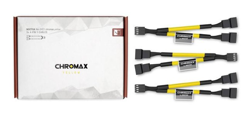 Noctua Na-Syc1 Chromax Y-Cable 4-Pin 11.5cm Yellow