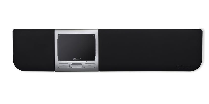 Optapad Extended Optical Touchpad Styrematte Kablet Svart, Sølv