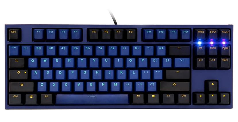 Ducky One 2 Horizon TKL Kabling Tastatur Nordisk Blå