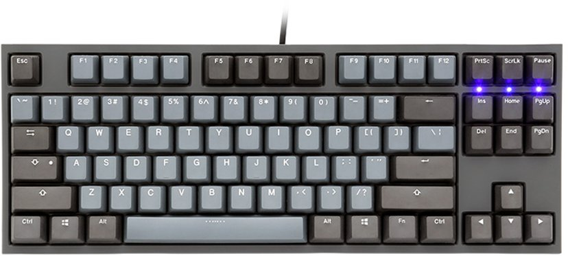 Ducky One 2 Skyline TKL Kablet Tastatur Nordisk Grå